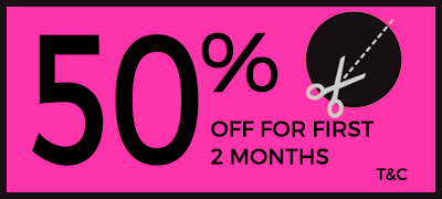 50% Off for first 2 months